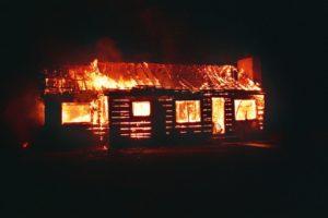 В Кузнецком районе горела ферма